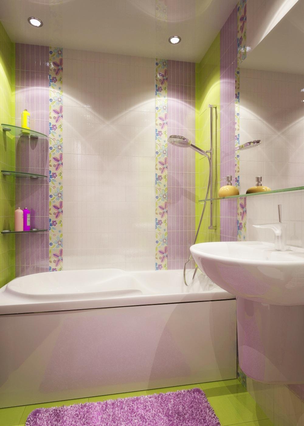 дизайн плитки в ванной комнате фото маленького размера
